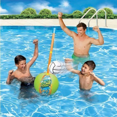 Banzai Kids' Super Splash Inflatable Tetherball Swimming Pool Game By Toyquest