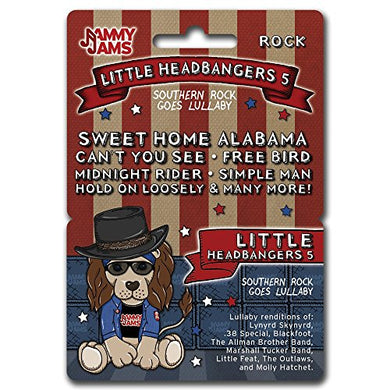 Jammy Jams Lullaby Download Card | 'Little Headbangers' Lullaby Renditions Of Heavy Metal, Hard Rock &Amp; Southern Rock | Full Album Download Card (Little Headbangers 5: Southern Rock Goes Lullaby)