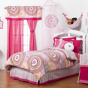 One Grace Place Sophia Lolita Medium Quilt, White, Pink, Berry, Orange, Black