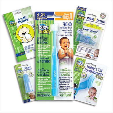 Brilliant Infant Oral Care Set By Baby Buddy, Blue