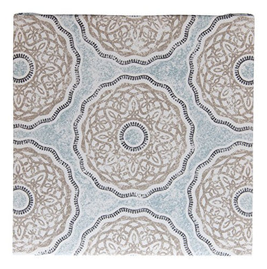 Glenna Jean Luna Fabric Covered Canvas Wall Art, Blue/Taupe/Grey/Tan