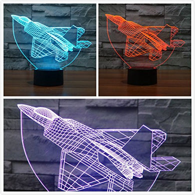 Superniudb Plane 3D Night Light Baby Led Lights Table Lamps For Home Decor Promotional Gifts For Kids