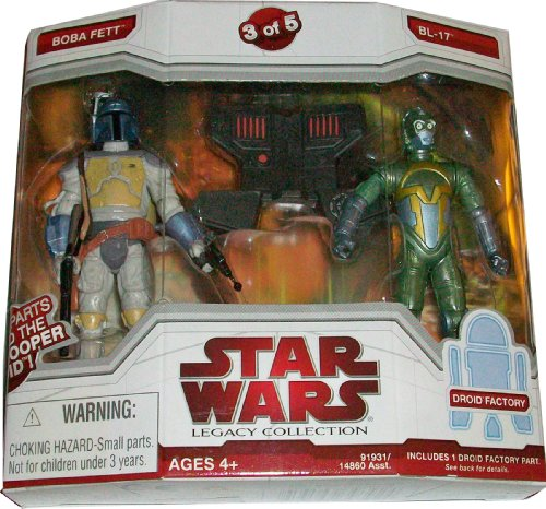 Star Wars Legacy Collection Exclusive Build A Dark Trooper Droid Action Figure Boba Fett And Bl-17 (#3 Of 5)