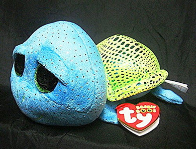 Ty Beanie Boos Cara The Sparkle Blue/Green Loggerhead Sea Turtle 6 .25L Rare Exclusive-See Pics