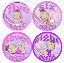 Load image into Gallery viewer, Girl Babies Baby Month Onesie Stickers Baby Shower Gift Photo Shower Stickers, Baby Shower Gift By Onesiestickers