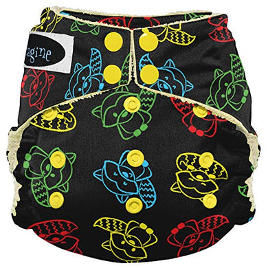 Imagine Baby Products Viscose From Bamboo Aio 2.0 Diaper, Raccoon Ruckus, Snap
