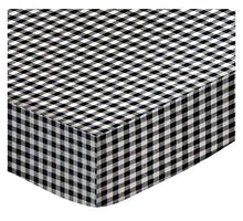 Load image into Gallery viewer, Sheetworld Fitted Cradle Sheet - Black Gingham Check - Made In Usa