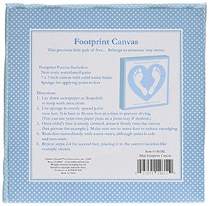 Child To Cherish Footprint Canvas Frames, Grey