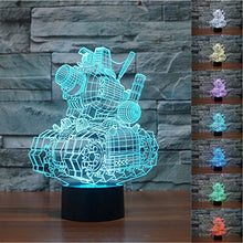 Load image into Gallery viewer, Superniudb Model Tanks Metal Slug Advance Lamp 3D Night Light Table Desk Optical Illusion Lamps 7 Color Changing Lights
