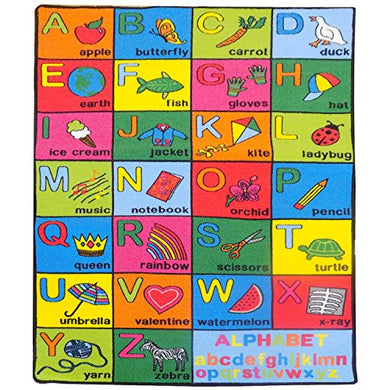 Mybecca Large Classroom And Nursery Rugs For Kids Alphabet Chart Area Rug 3' X 5 1