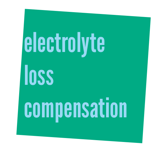 electrolyte loss compensation
