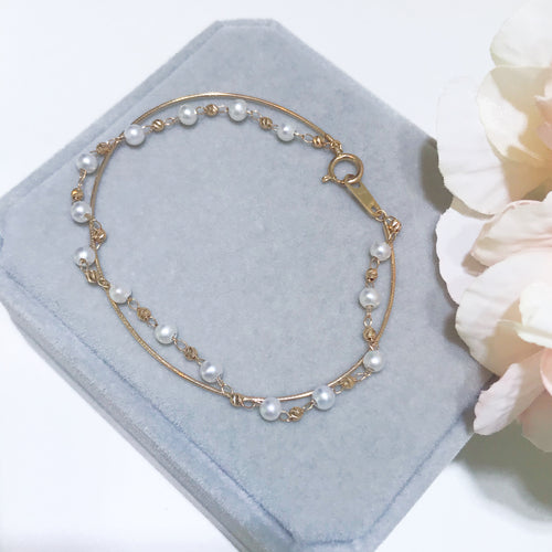 美億年珠寶 珍珠18K金手鏈 melinie jewelry pearl bracelet bangle