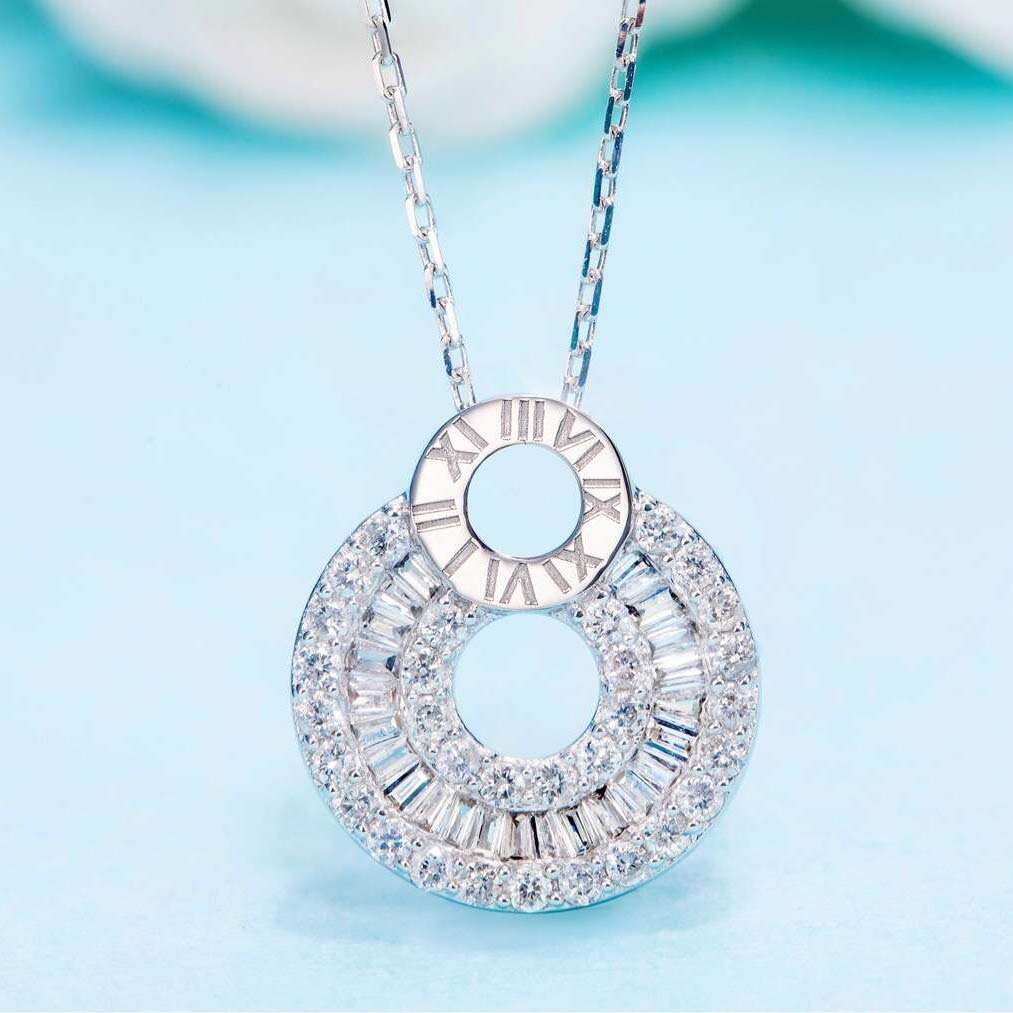 鑽石 項鍊 頸鏈 K金 美億年珠寶 diamond pendant necklace 18K gold melinie jewelry