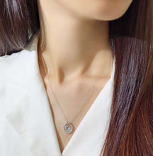 Load image into Gallery viewer, 鑽石 項鍊 頸鏈 K金 美億年珠寶 diamond pendant necklace 18K gold melinie jewelry