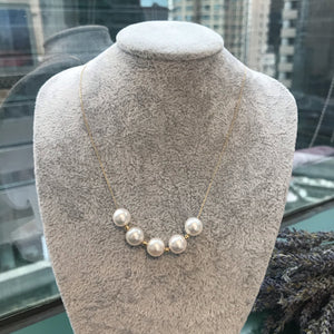 melinie jewelry akoya pearl 18k gold necklace 美億年珠寶 珍珠 花珠 18K金頸鏈