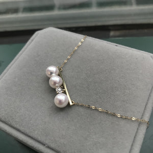 美億年珠寶 鑽石 18K金 珍珠 頸鏈 melinie jewelry 18k gold pearl necklace