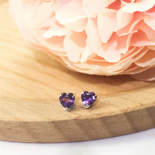 Load image into Gallery viewer, 美億年珠寶 紫晶18K金耳環 melinie jewelry crystal earrings