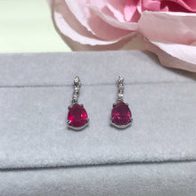 Load image into Gallery viewer, 美億年珠寶 紅寶石鑽石耳環 melinie jewelry ruby diamond earrings