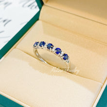 Load image into Gallery viewer, Estella Blue Sapphire Ring