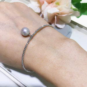 日本真多麻akoya珍珠18K金手鏈 melinie jewelry 18K akoya bangle bracelet