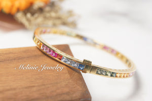 美億年珠寶 18K金 寶石手鐲 Melinie Jewelry 18K Gold Gemstome Gem bangle bracelet