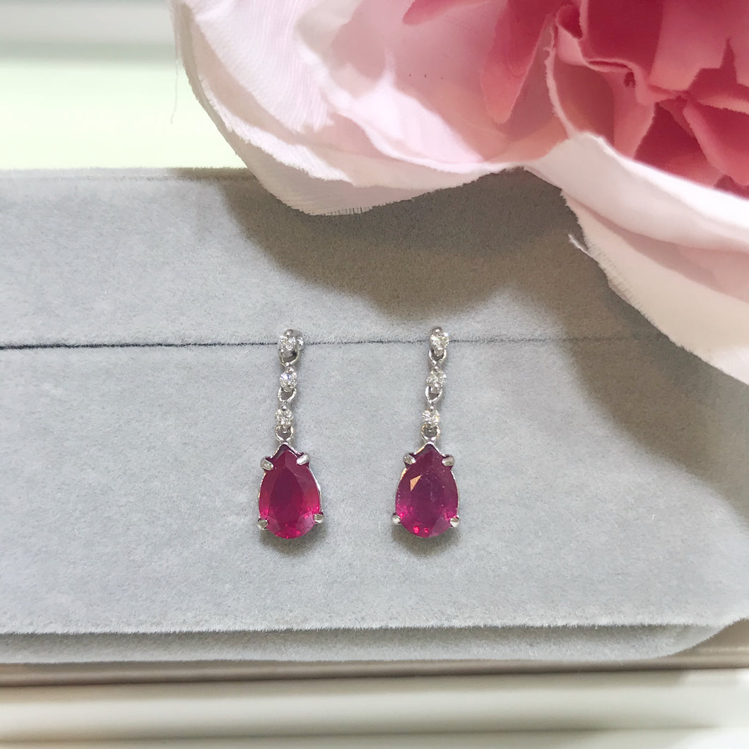 美億年珠寶 紅寶石鑽石耳環 melinie jewelry ruby diamond earrings