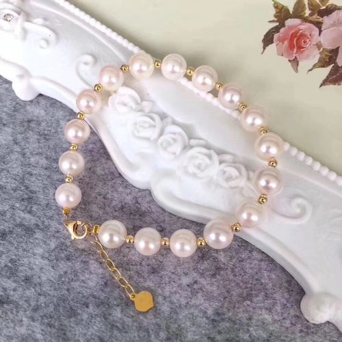 美億年珠寶 Melinie Jewelry Co 珍珠手鏈 natural pearl bracelet 18K gold K金