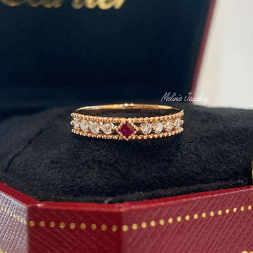 Lacey Ruby Diamond Ring