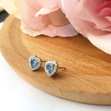 Load image into Gallery viewer, 美億年珠寶 寶石 18K金耳環 melinie jewelry sapphire gemstone 18K gold earrings
