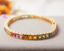 Load image into Gallery viewer, 美億年珠寶 18K金 寶石手鐲 手鏈 Melinie Jewelry 18K Gold Gemstome Gem bangle bracelet