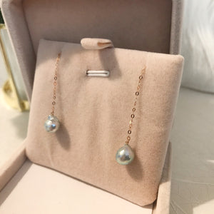 美億年珠寶 18K金耳環 鑽石 akoya 珍珠 melinie jewelry diamond earrings