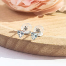 Load image into Gallery viewer, 海藍寶鉑金耳環 melinie jewelry aquamarine PT gold earrings