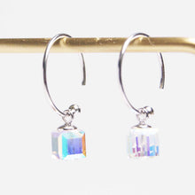 Load image into Gallery viewer, 美億年珠寶 Melinie Jewelry Co 純銀 水晶耳環 耳釘 crystal 925 silver earrings