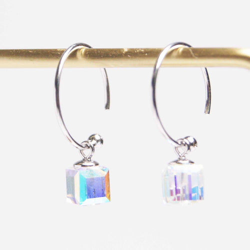 美億年珠寶 Melinie Jewelry Co 純銀 水晶耳環 耳釘 crystal 925 silver earrings