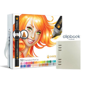 Chameleon 52 Pen Super Set mit A5 Clipbook von Filofax
