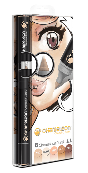 Chameleon 5 Pen Skin Tones Set front packaging