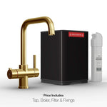 Fohën Fahrenheit | Brushed Gold | 3-in-1 Instant Boiling Water Tap