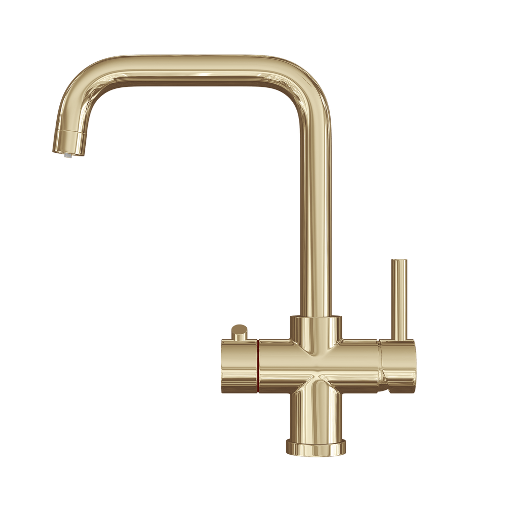 Fohen CK01PZ Fohën Brushed Gold 3-in-1 Instant Boiling Water Taps