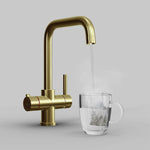 Fohën Fahrenheit | Unfinished Brass | 3-in-1 Instant Boiling Water Tap