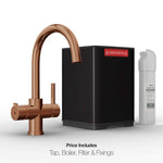 Fohën Furnas | Polished Bronze | 3-in-1 Boiling Water Tap with Swan Neck