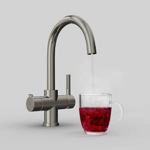 Load image into Gallery viewer, Fohen CK02PM Fohën Fahrenheit Brushed Gunmetal Grey Boiling Water Tap