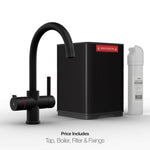 Fohën Furnas | Matt Black 3-in-1 Instant Boiling Water Tap