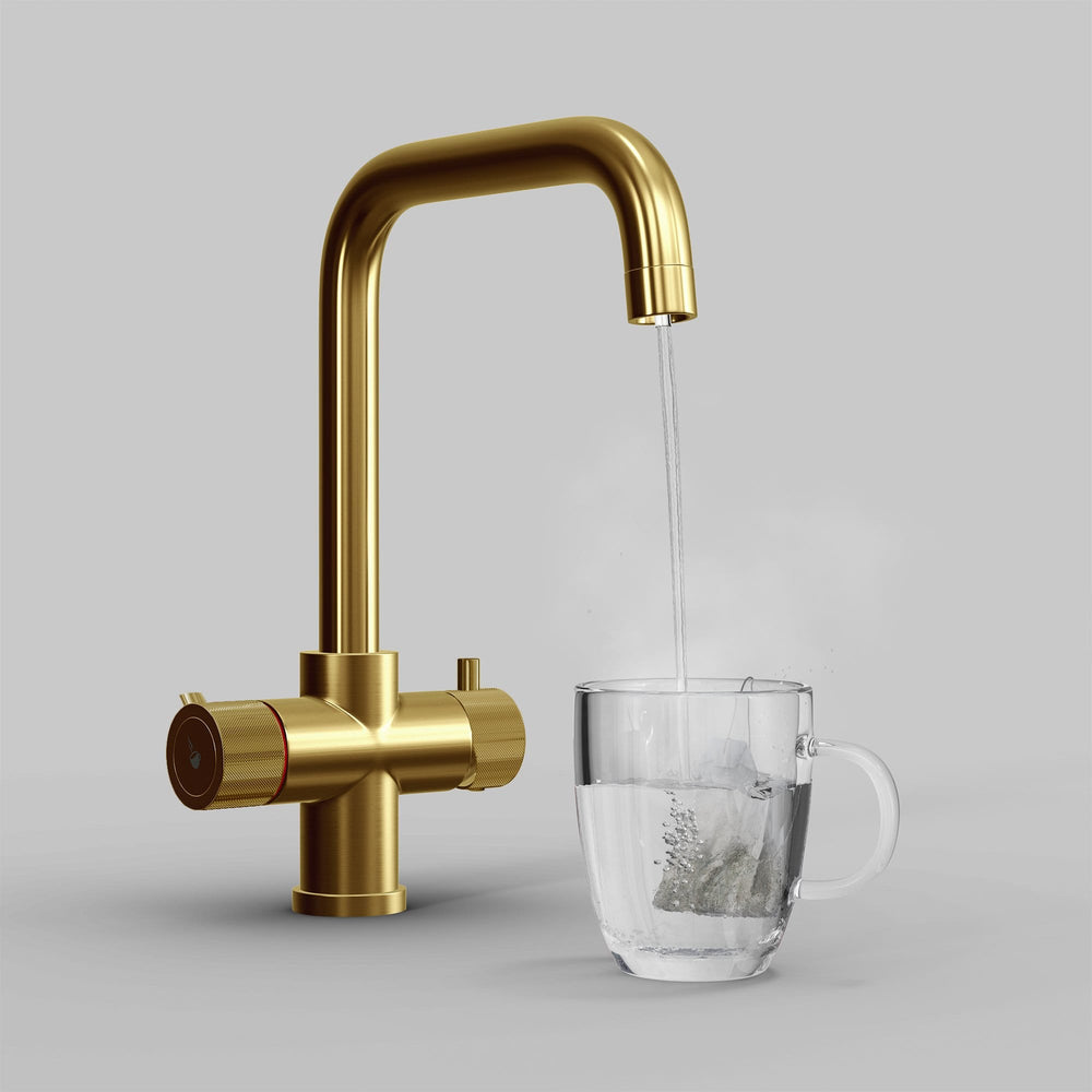 Fohën Flagro | Brushed Gold | 3-in-1 Instant Boiling Water Tap