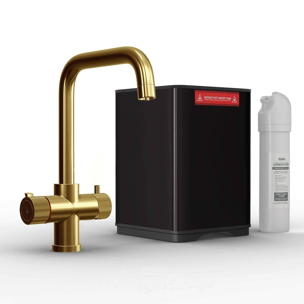 Fohen CK03G Fohën Flagro Brushed Gold Instant Boiling Water Kitchen Tap