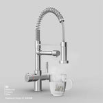 Fohën Flex | Polished Chrome | 3-in-1 Instant Boiling Water Tap | Handheld Flexible Spout