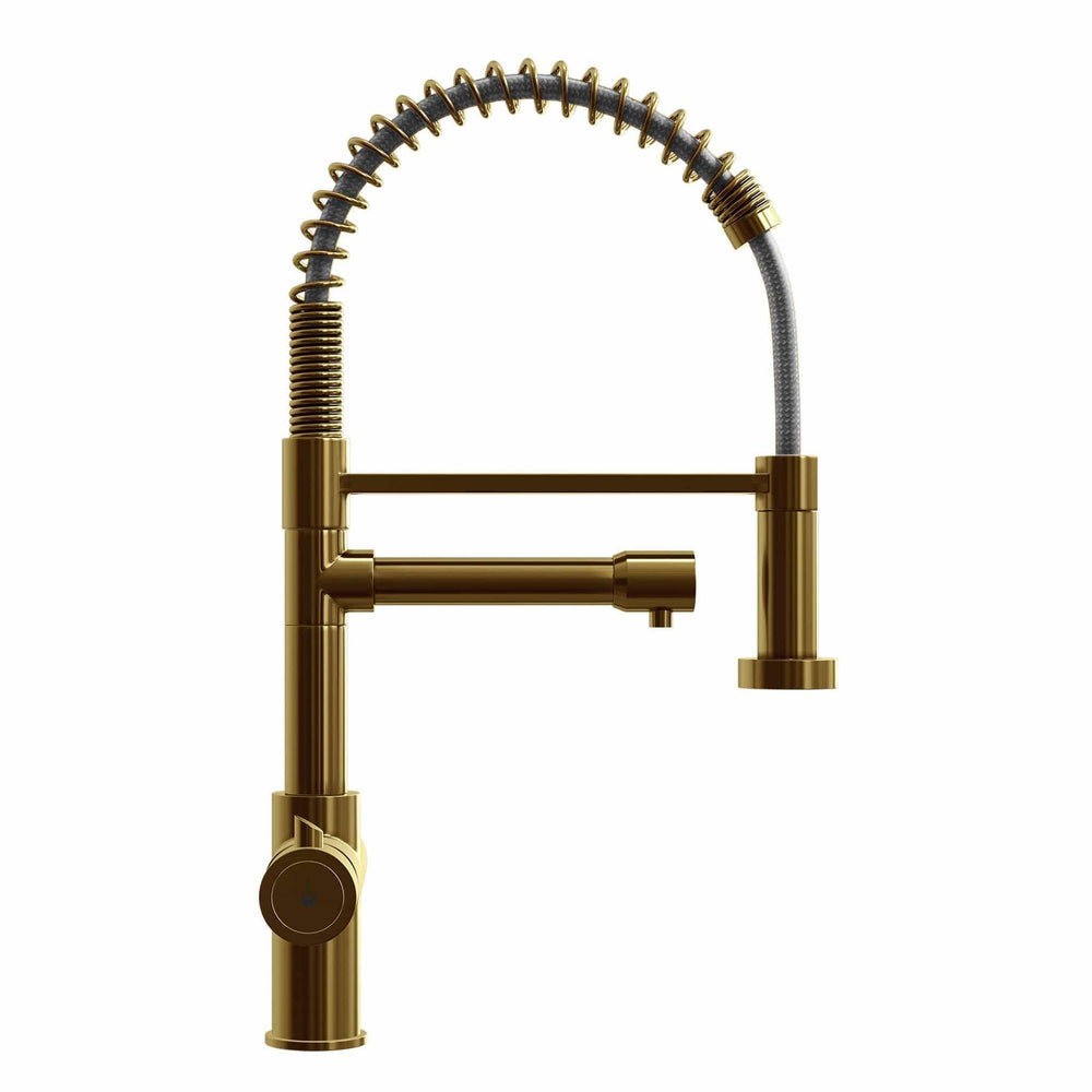 Load image into Gallery viewer, Fohen FK01G Fohën Flex | Brushed Gold Boiling Water Tap | Flexible Spout
