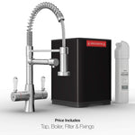 Fohën Flare Polished Chrome | Boiling Water Tap | Handheld Flexible Spout