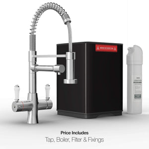 Load image into Gallery viewer, Fohen FK02A Fohën Flare Chrome Boiling Water Tap | Flexible Spout