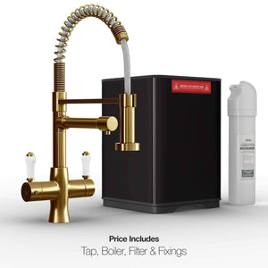 Load image into Gallery viewer, Fohen FK02G Fohën Flare Gold Boiling Water Tap | Flexible Spout