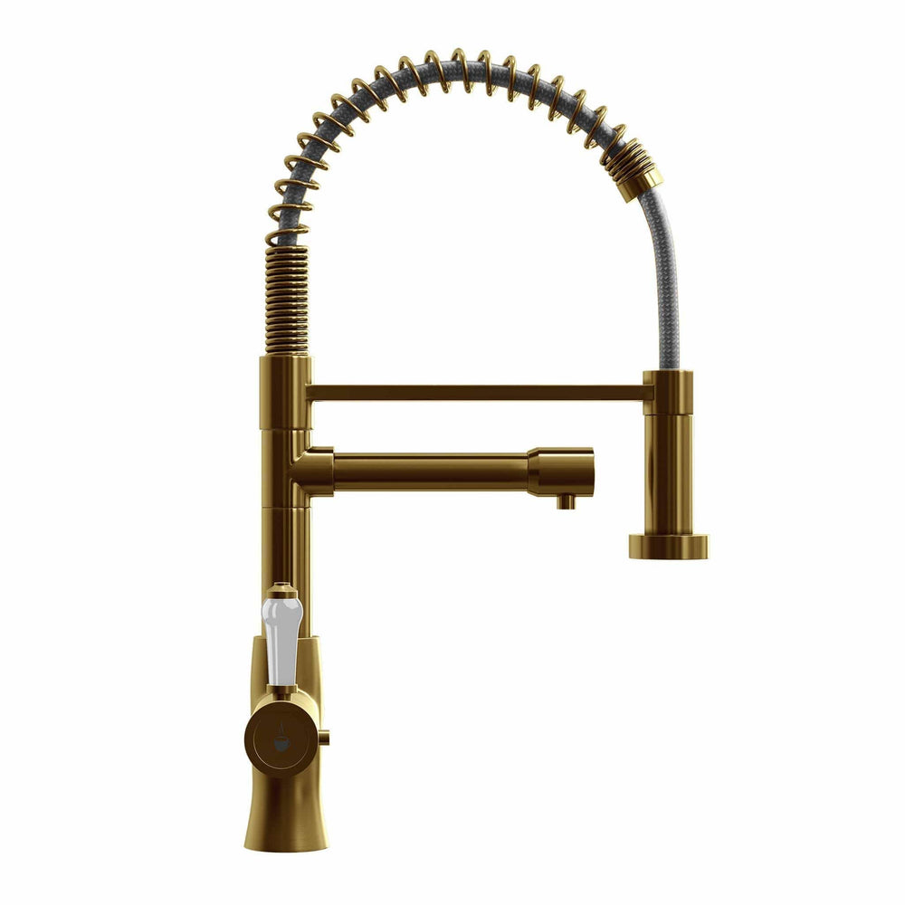 Fohën Flare | Brushed Gold | Instant Boiling Water Tap | Handheld Flexible Spout